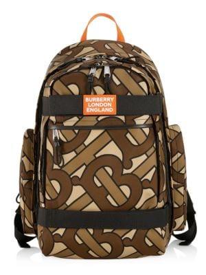 Burberry Backpacks Large Sonny TB Leather-Trim Monogram Print Nevis Backpack
