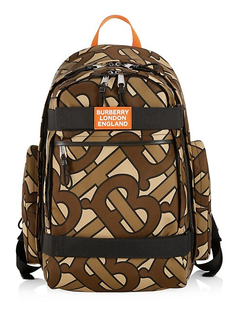 Large Sonny TB Leather-Trim Monogram Print Nevis Backpack