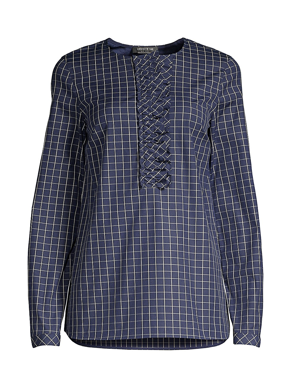Lafayette 148 WOMEN'S BRADFORD CROSSHATCH SHIRT