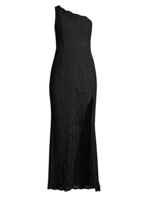 Fame And Partners  The Selma One-Shouldered Lace Gown