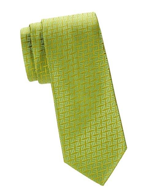Neat Tonal Silk Tie