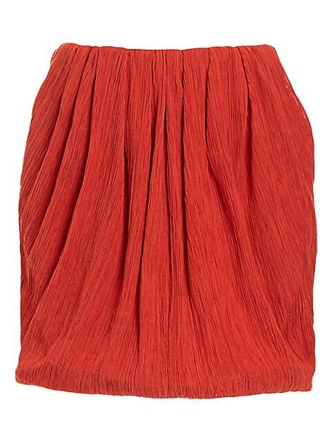 Cotton & Silk Mini Bubble Skirt
