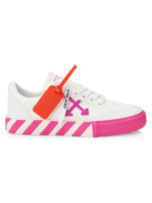 Off White Shoes Off-White - Arrow Low-Top Neon Canvas Sneakers - saks.com