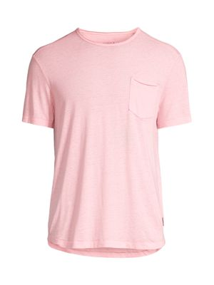 John Varvatos Men's Patch Pocket T-shirt In Misty Rose