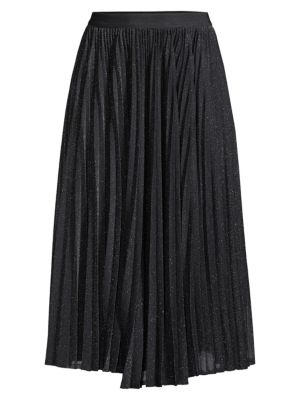 Weekend Max Mara Varna Lurex Pleated Midi Skirt