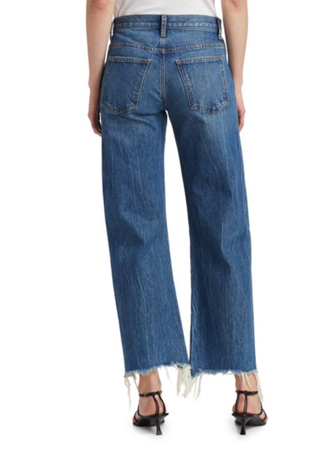 Khaite Gabbie Raw-Hem Jeans | SaksFifthAvenue