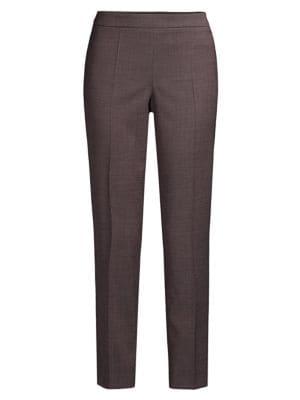 Boss Pants Tiluna Stretch Virgin Wool Ankle Pants