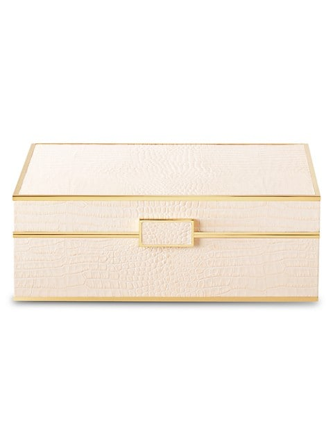 Classic Croc-Embossed Jewelry Box