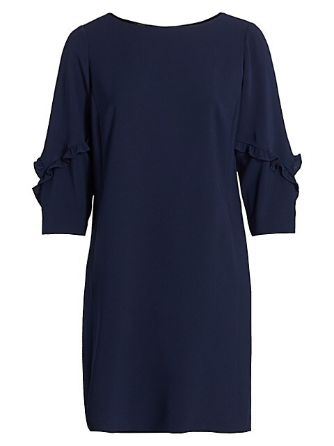 Abigail Ruffle-Sleeve Shift Dress