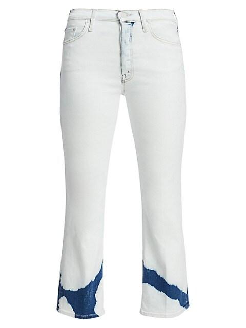 The Tripper High-Rise Crop Bootcut Dip-Dye Jeans
