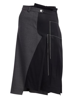 Monse Skirts Half Trouser Pleated Wool-Blend Skirt