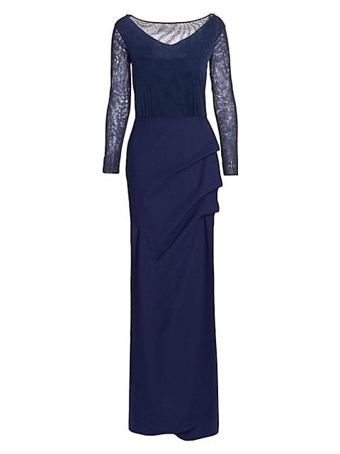Nova Beaded Illusion Gown