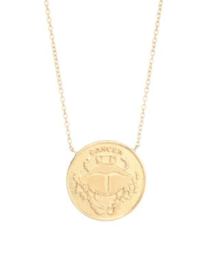 Jennifer Zeuner Jewelry Women's Sylas 14k Gold Vermeil Cancer Medallion Necklace In Yellow Goldtone