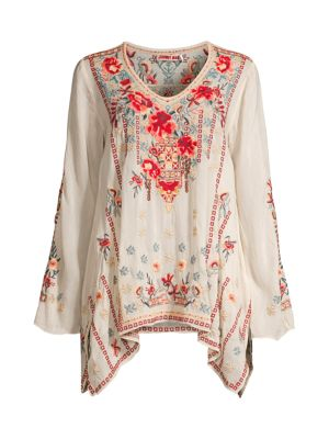 Johnny Was Embroidered Tunic Small