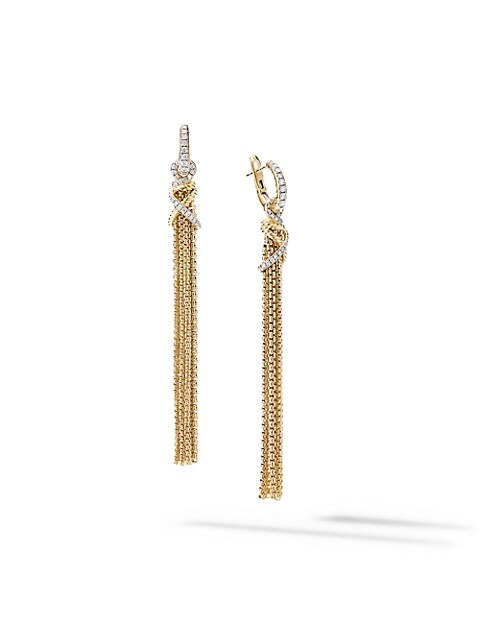 Helena Tassel Earrings In 18K Yellow Gold With Diamonds