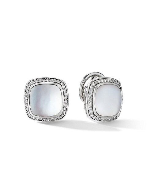 Albion® Earrings With Rock Crystal & Diamonds