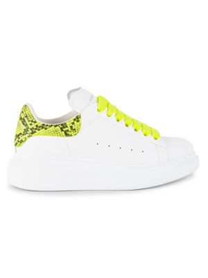 Alexander Mcqueen Platforms Neon Platform Leather Sneakers