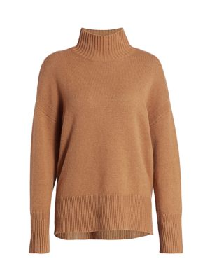 Frame Sweaters High-Low Cashmere Turtleneck Sweater