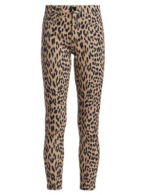 Joe's Jeans Jeans Charlie High-Rise Leopard Print Ankle Skinny Jeans