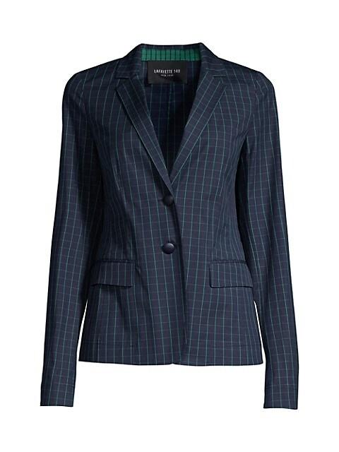Thatcher Cotton Hatch-Pattern Blazer