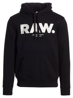 Details about $250 Authentic Rare G STAR RAW Men's Black Hooded Sweat Sweatshirt Sweater