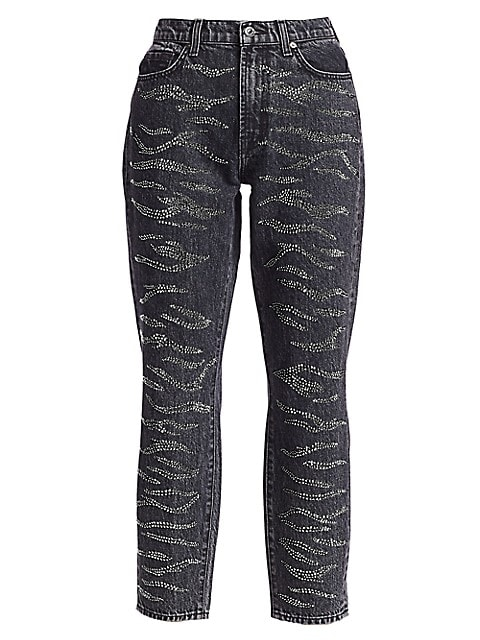 Crystal High-Rise Zebra Print Jeans