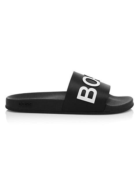 Boss Logo Slide Sandals