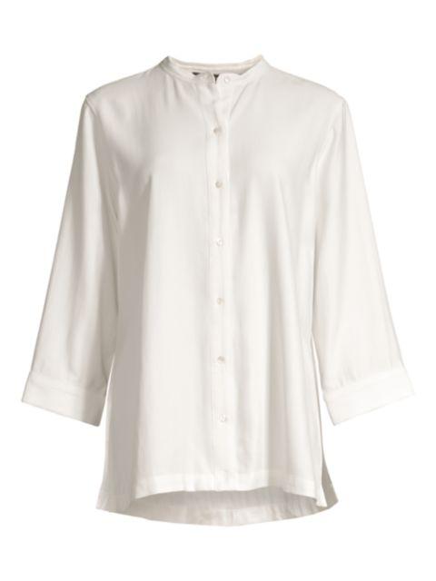 Natori Sanded Twill Tunic Shirt   SaksFifthAvenue
