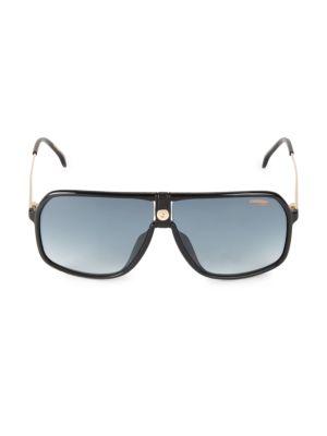 Carrera Men's 64mm Square Shield Sunglasses In Black