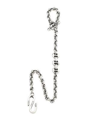 Hoorsenbuhs Men's Open-link 5mm Sterling Silver & Diamond Wallet Chain