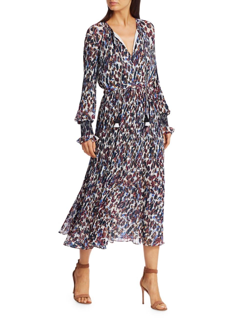 Derek Lam 10 Crosby Nemea Floral Pleated Dress   SaksFifthAvenue