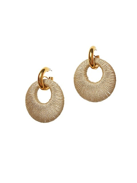 Orb 18K Goldplated Handwoven Coil Link Earrings