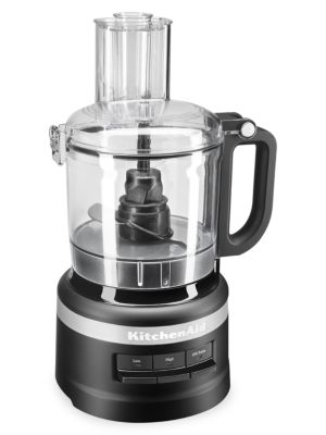 Kitchenaid Easy Store 7-cup Food Processor In Matte Black