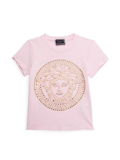 Little Girl's & Girl's Embellished Medusa T-Shirt