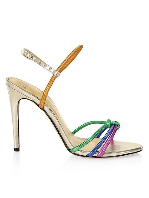 Rebecca Rainbow Leather Slingback Sandals