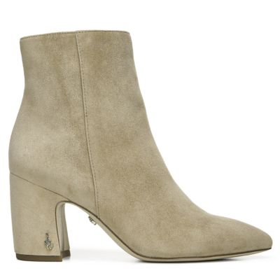 Sam Edelman Women's Hilty Suede Ankle Boots In Cream