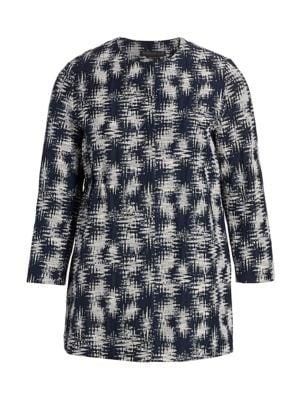 Marina Rinaldi, Plus Size Cotton Jacquard Jacket