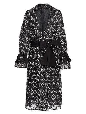 Marina Rinaldi, Plus Size Topazio Embroidered Floral Tulle Overcoat