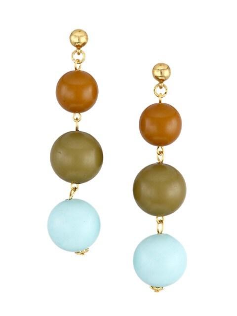 Small Ball Drop Linear Earrings