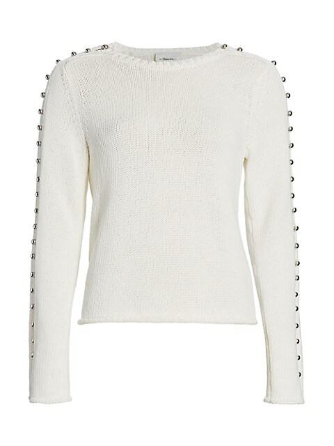 Embellished-Sleeve Sweater
