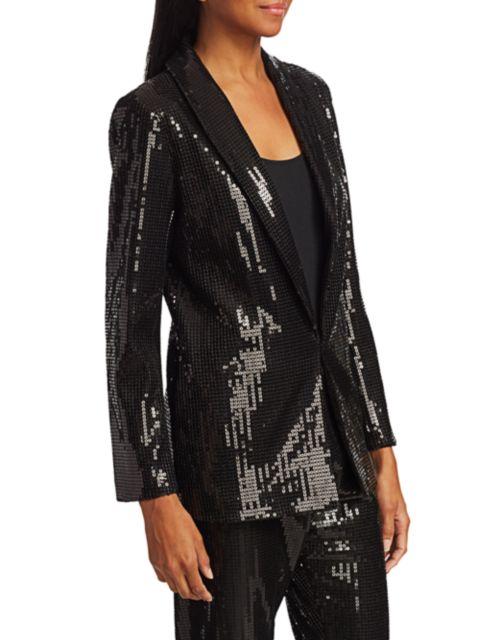 Joan Vass Petite Sequin Blazer | SaksFifthAvenue