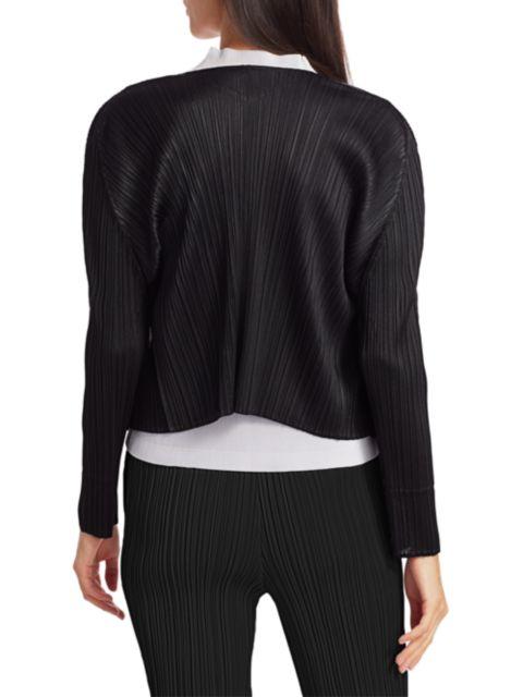 Pleats Please Issey Miyake Basics Pleated Cardigan | SaksFifthAvenue