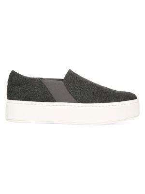Vince Flats Warren Mohair Flatform Sneakers