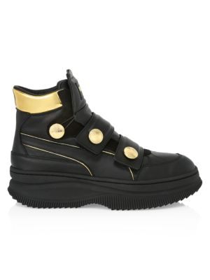 Puma x Balmain Deva Straps Leather Sneakers