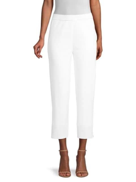 Misook Cropped Knit Trousers | SaksFifthAvenue