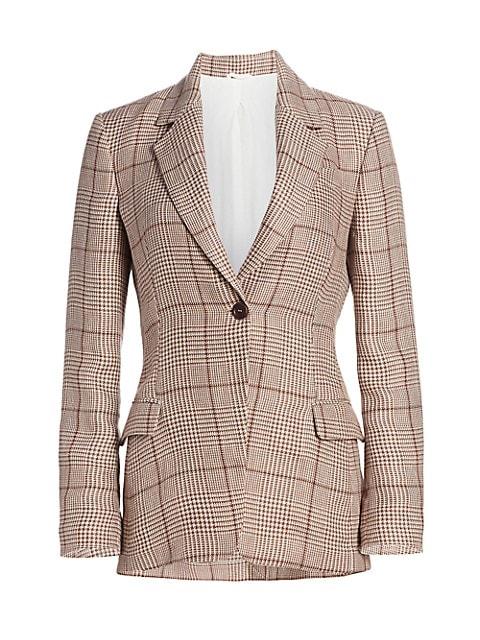 Plaid Linen Jacket