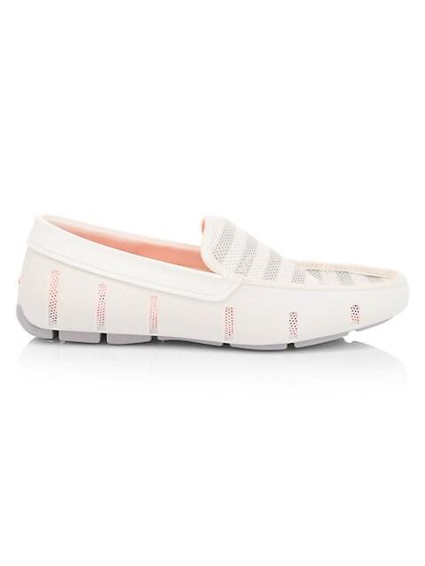 Venetian Striped Mesh Loafers