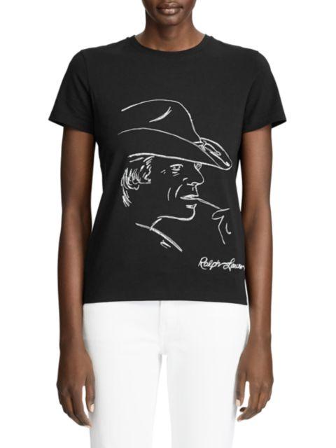 Ralph Lauren Collection RL Portrait Graphic T-Shirt   SaksFifthAvenue