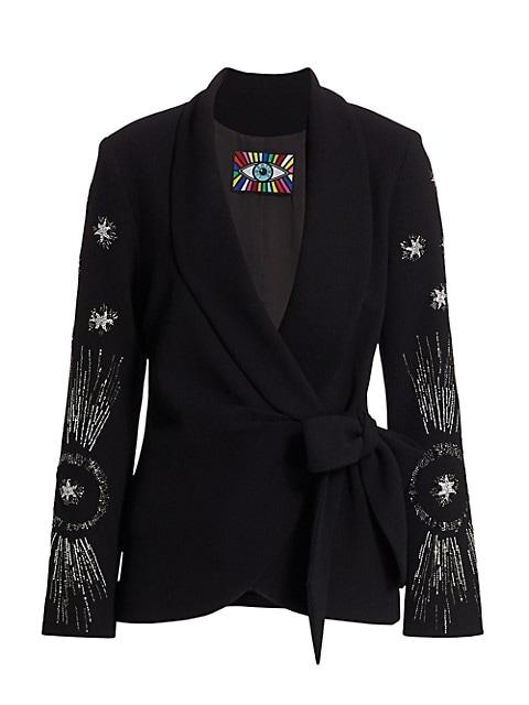 Star Emebllished Wrap Jacket