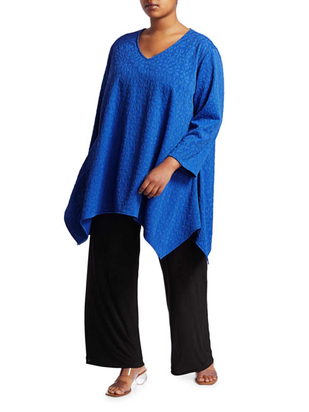 Caroline Rose, Plus Size Pin-Wheel Knit Swing Tunic | SaksFifthAvenue